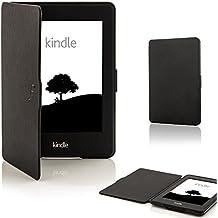 custodia Cover con chiusura magnetica avanguardia casi di funzione e pennino capacitivo per Amazon Kindle (Viola Nuovo Pennino)
