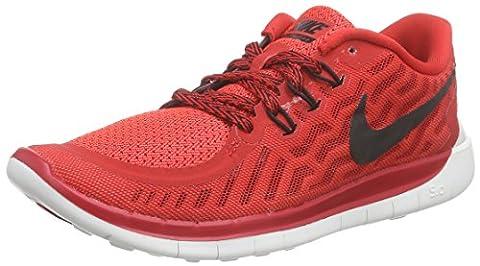 Nike NIKE FREE 5.0 (GS), Unisex-Kinder Sneakers, Rot (601 UNVRSTY RED/BLCK-HYPR ORNG-WHT), 35.5 EU