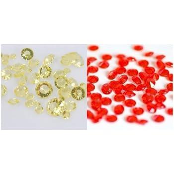 4.5mm Lot de 4000 confettis diamants pour d/écoration de table Assortiment Rose//Violet