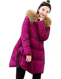 827a2959e63c FNKDOR Manteau Chaud Doudoune Femme Veste à Capuche d hiver Chaud Col  Fourrure Parka Blouson