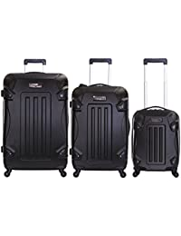 Ossett conjunto de 3 maletas duras, Negro
