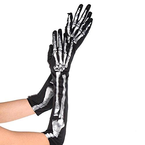 Kostüme Skelett (HALLOWEEN Accessoire Verkleidung SKELETT Handschuhe)