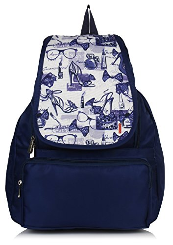 Bag-Age Women's Backpack Handbag(Blue,Messenge Queen)