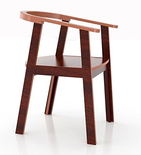 Crosscut Furniture C-Chair (Wenge Finish, Brown)