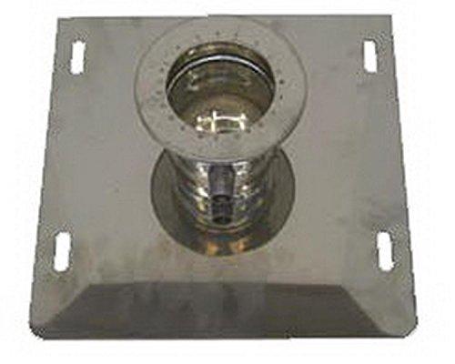 Canna fumaria tubo scarico fumi acciaio inox AISI 316 - parete doppia rame dn 100/150 piastra part. con drenaggio