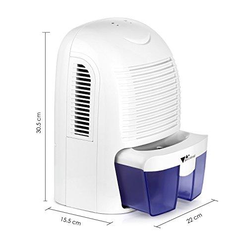 Amzdeal Luftentfeuchter 700ml/24h | Raumentfeuchter gegen Feuchtigkeit - 3