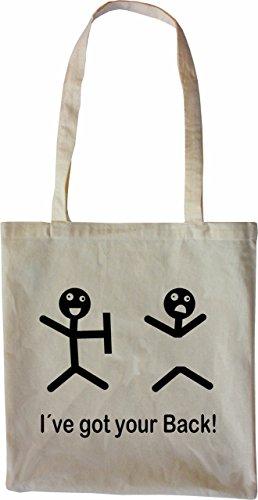 Mister Merchandise Tasche I´ve got your Back Stofftasche , Farbe: Schwarz Natur