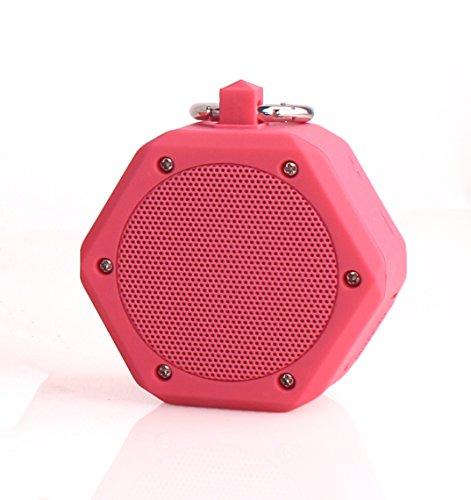 YunMei beweglicher mini drahtloser Bluetooth Stereolautsprecher, vielzweckiger wasserdichter im Freien- / Dusche-Lautsprecher, mit 3W StereoBluetooth Lautsprecher BB-120 (rosa)