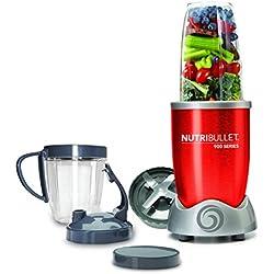NutriBullet NB9-0928-R - Extractor de nutrientes original con recetario en Español, 900 W, color rojo