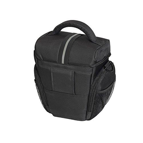 PEDEA cargador frontal bolsillo para Sony SLT-A58K / A58Y / A37K, Panasonic Lumix DMC-FZ1000, Nikon Coolpix P900 Canon EOS 1100D con el protector de pantalla en negro / gris