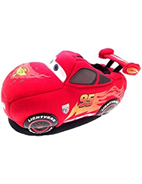 Disney - Zapatillas para andar por casa para niño, diseño de Rayo McQueen de Cars en 3D (tallas 20 - 26,5)