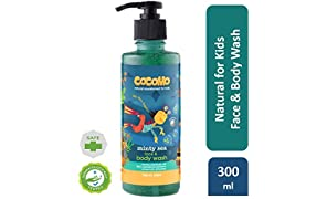 Cocomo Natural, Sulphate and Paraben Free Face & Body Wash for Kids - Minty Sea 300ml (Age: 4 yrs and Above)