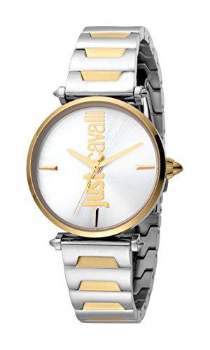 Just Cavalli Reloj Analógico para Mujer de Cuarzo con Correa en Acero Inoxidable JC1L051M0095
