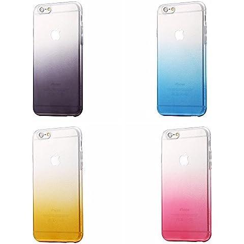 Apple iPhone 6s 6 caso, HAWEEL® - TPU suave de lujo, diseño gradiente de textura contraportada protectora 4 paquete (incluye protector de pantalla)
