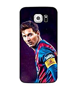 Samsung Galaxy S7 Edge Designer / Printed Back Cover -(messi)