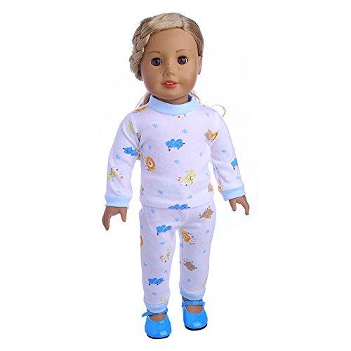 Traje de Invierno Conjunto de Pijamas Lindo Múltiples Estilos para 18 Pulgadas Muñeca Americana Chica Gusspower
