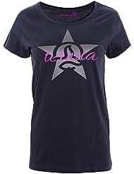 Ternua Sylvike Camiseta, Mujer, Negro (Whales Grey), L