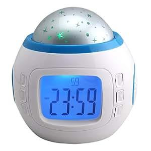 trixes led digital alarm clock star sky projection night. Black Bedroom Furniture Sets. Home Design Ideas