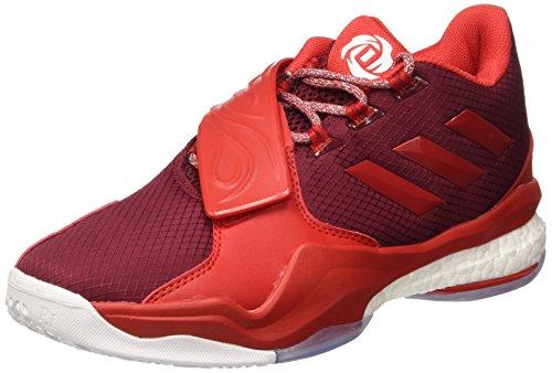 adidas Herren D Rose Englewood Boost Basketballschuhe, Rot (Buruni/Rojray/Ftwbla), 47 1/3 EU