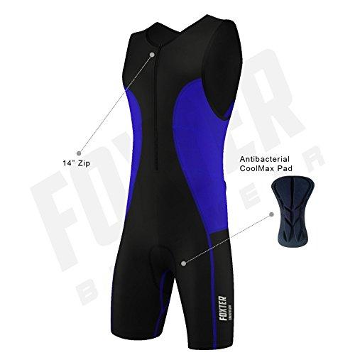 Triathlon-Anzug für Herren, Kompressionsanzug, blau, M