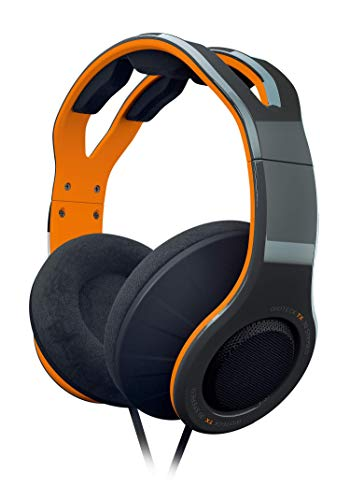 Gioteck TX30 Stereo Gaming Headset, Multi-Plattform Kopfhörer, Kabelgebunden Wired, Noise-Cancelling Mikrofon, für PC, PS4, Xbox One, Nintendo Switch, Mac, orange schwarz