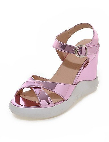 LFNLYX Chaussures Femme-Mariage / Bureau & Travail / Habillé / Décontracté / Soirée & Evénement-Rose / Argent / Or-Talon Plat-Compensées / Pink