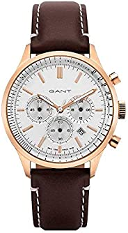Gant Bronwood Men's White Dial Leather Chronograph Watch - G GWGT08