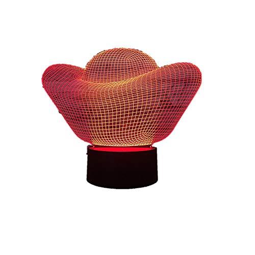 Lingotto d'oro Soldi 3D Lampada a Led / 7 Luci a Led a Colori/Touch USB Tavolo Lampara Lampe Nightlight/Per Affari Regalo3D