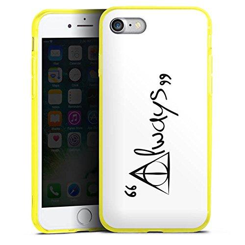 Apple iPhone 8 Silikon Hülle Case Schutzhülle Always Harry Potter Statement Silikon Colour Case gelb