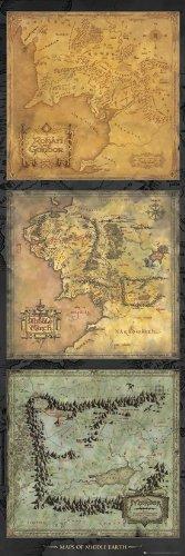 GB eye LTD, El Señor de los Anillos, Mapa de la Tierra Media, Poster Puerta, 53 x 158 cm