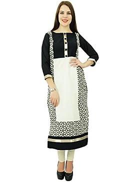 Phagun étnico Patrón Top algodón de las mujeres Shell Kurti diseñador vestido de la túnica Kurta