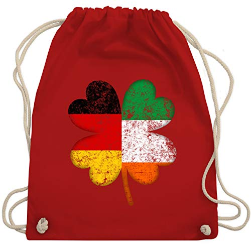 St. Patricks Day - Deutschland Irland Kleeblatt - Unisize - Rot - WM110 - Turnbeutel & Gym Bag