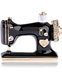 SODIAL Broche de forma de maquina de coser Accesorio de vestir de boda vintage Broches de