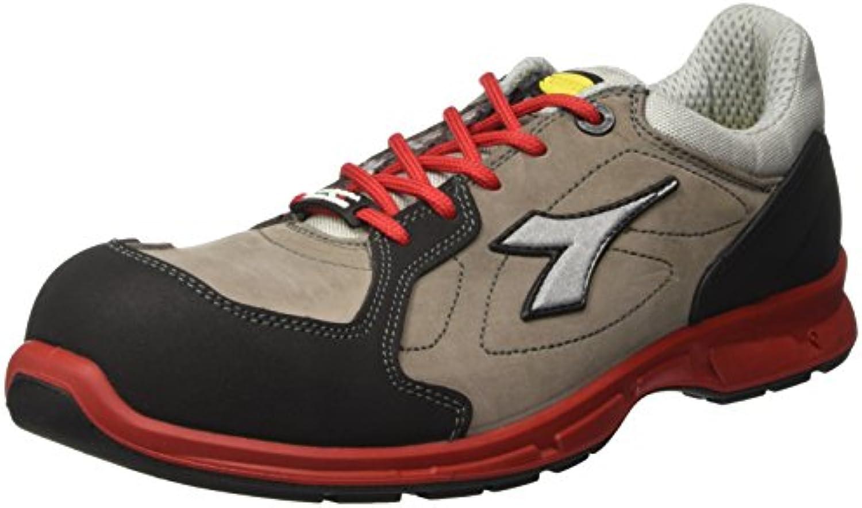 Diadora - Energy Boost 3, zapatos para correr Hombre, Azul (Grigio/rosso), 46 EU