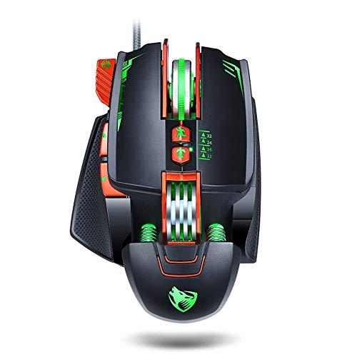 Lee Lam Gaming Mouse, Gaming Machinery Macro Definition Mechanische Maus Geeignet für eine Vielzahl von Spielen Empfindlich und komfortabel -