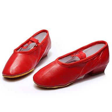 Danza Scarpe in pelle di danza Sneakers talloni delle donne delle prestazioni tacco grosso, Ruby, US8.5 / EU39 / UK6.5 / CN40 Ruby