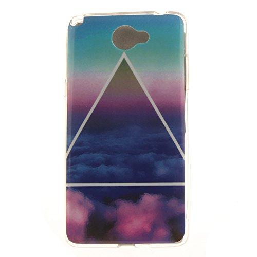 Guran® TPU Silikon Hülle für LG Bello II (5 Zoll) Smartphone Gemalt Schutzhülle Cover-Triangle Wolke