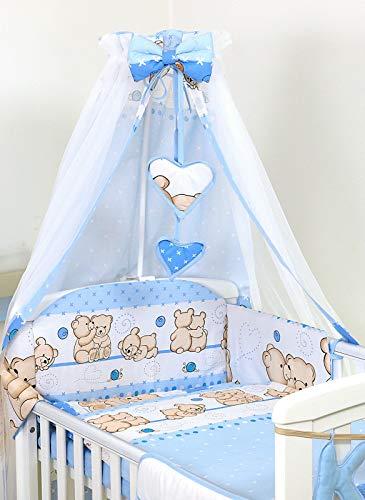 Pro Cosmo Baby Nursery/lettino Baldacchino 230x150 e METAL SUPPORTO per Culla Lettino Zanzariera #8 blu orsacchiotto orsi orsetti