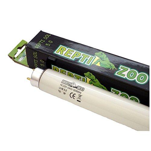 "Reptile Vivarium Fluorescent Tube Light T8 UV UVA UVB 5.0 15W 18"" Test"