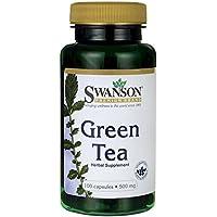 Swanson - Thé Vert (Green Tea) 500mg, 100 gélules - Poudre Bio-Active de Feuilles Séchées 100% Naturelles - Complément Alimentaire Ayurvédique en capsules - Supplément Ayurvéda Minceur
