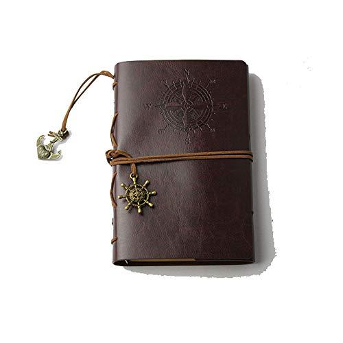 Diary Notepad Tasks Women Notebook Good Handmade Yikasin Gift Men Brownness Journal For Traveller's Wrap Mini Leather UVzGpqMS