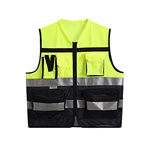 Reflective Safety Vest High Visibility Safety Vest Yellow and Dark