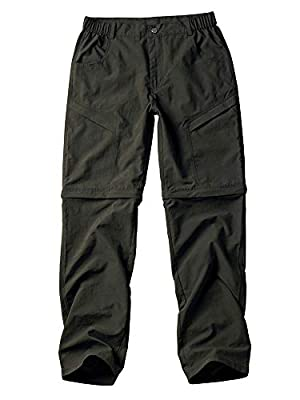 Jessie Kidden Women's Climbing Stretch Trousers Outdoor Quick Dry Convertible Hiking Fishing Zip Off Stretch Cargo Pants #5818 by Jessie Kidden