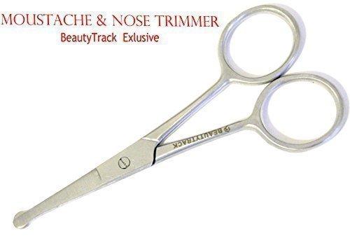 BeautyTrack® - Forbici per Peli Naso, Baffi, Barba, Sopracciglia, Capelli