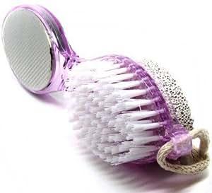 Foot Scraper- Multi-use Foot Care Brush Pumice Scrubber Pedicure scraper, Color May Vary