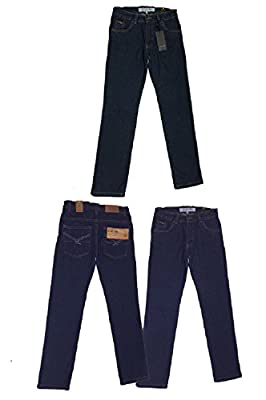 Firetrap Boys Jeans Adjustable Waist Trousers Indigo Blue Denim Wash Designer Classic Fit Age 2 3 4 5 6 7 8 9 10 11 12 13 Years