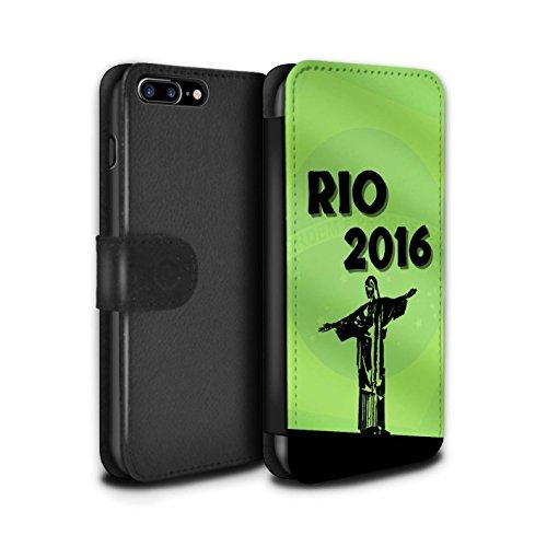 Stuff4 Coque/Etui/Housse Cuir PU Case/Cover pour Apple iPhone 7 Plus / Pack 5pcs Design / Rio Olympique Collection Vert