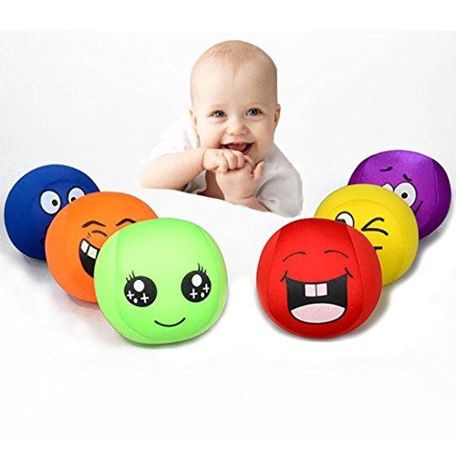 ling Face Squeeze Stress Relief Spielzeug, mamum 1PC Baby 's Baumwolle Weich Farbe Smiling Face gedrückt wird Catch The Ball Eduactional Toys Einheitsgröße A(10x10x10cm) (Wütend Baby-gesicht)