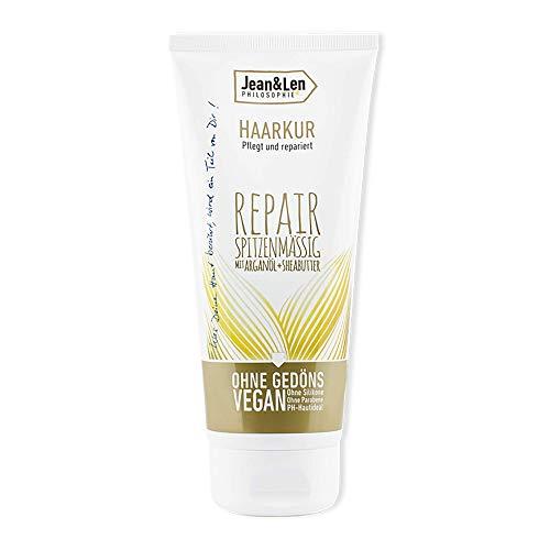 Jean & Len Haarkur Repair, speziell für angespannte und trockene Haare, Sheabutter und Arganöl bieten einen Repair-Effekt, 200 ml, 1 Stück