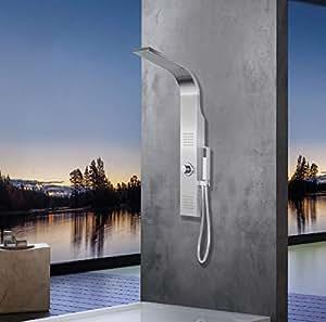 elbe duschpaneel edelstahl ohne armatur 2xmassaged sen gartendusche regendusche und. Black Bedroom Furniture Sets. Home Design Ideas